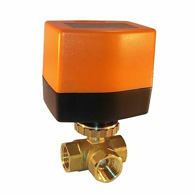 Electrical Ball Valve BW3 1/2'' 3-way 12V DC 3-point