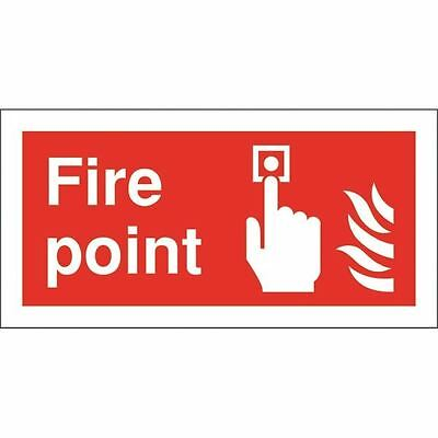 Safety Sign Fire Point 100x200mm Self-Adhesive FR07903S [SR11164]