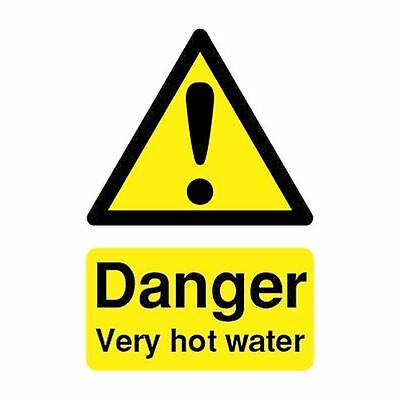 Safety Sign Danger Very Hot Water 75x50mm PVC HA17343R [SR11194]