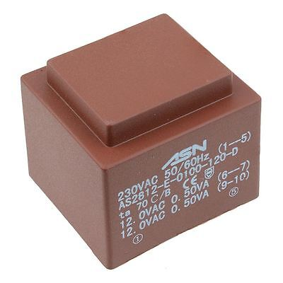 0-12V 0-12V 1VA 230V Encapsulated PCB Transformer
