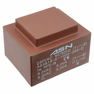 0-9V 0-9V 10VA 230V Encapsulated PCB Transformer