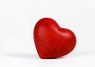 Red Heart Keepsake,Solid Wood, for Human, Pet, Cat, Dog Ashes/Remains