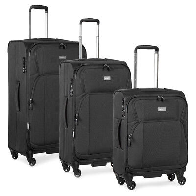 NEW Antler Airstream II Charcoal Spinner Case Set 3pce