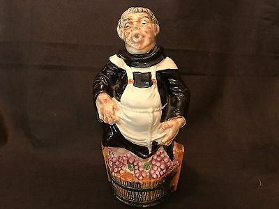 Vintage 1969 Barsottini Monk Friar Wine Decanter Stomping Grapes Italy