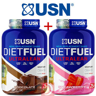 2X USN Diet Fuel Ultralean Protein Weight Loss Meal Replacement 2Kg