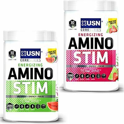 USN Amino Stim Pre Intra Workout  Energy Focus Recovery BCAA 300g
