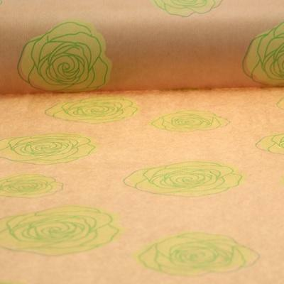 Kraft Paper Lime Rose Pattern 1m - 100 Meter 50 cm Wide Gift Wrapping Crafts