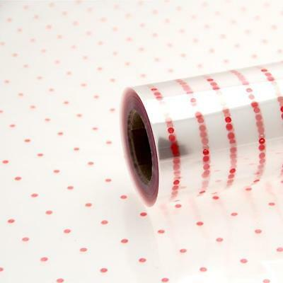 Red Dot Cellophane Florist Wrap 1M - 100 Meters Florist Quality Gift Wrapping