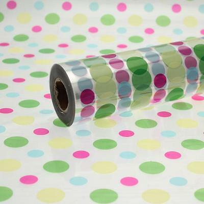 Disco dot cellophane wrap 1m to 100 meters length 80cm wide florist quality