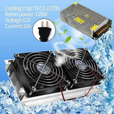 Thermoelectric Peltier Refrigeration Cooling System Radiator Cooler High Power