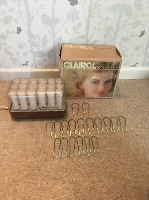 Clairol Style Setter Electric Heated Hair Rollers Tight Slim Curlers Working