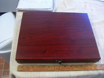 """Unmarked Set of 12 Wood carving Chisels @ 8 1/2"""" Long in Presentation Case China"""