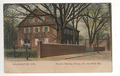 c1905 Friends Meeting House – 4th & West Streets – Wilmington, DE Postcard - UDB