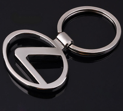 3D Hollow Out Car Logo Metal Key Chains Pendant Holder Silver Keyring for Lexus