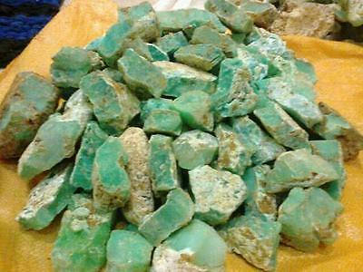 1 To 10Kg Lot Natural Untreated High Quality Rough Green Chalcedony Chrysophase