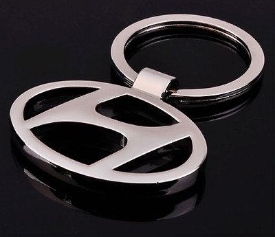 Hollow Out Car Logo Metal Key Chains Pendant Holder Silver Keyring for Hyundai