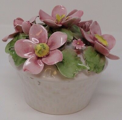 Vintage Mira - Flowers in Bowl - Trinket Dish - Candy Bowl - Very nice!