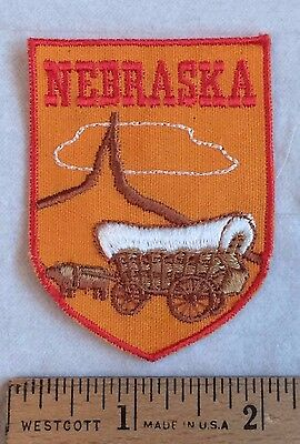 NEBRASKA Covered Wagon Western Plains Souvenir Patch Badge