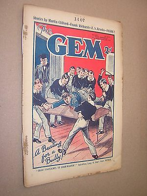 THE GEM. FEB 2nd 1935. SCHOOLBOY'S PAPER. COMIC. TOM MERRY OF ST. JIM'S etc.