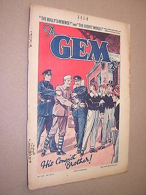 THE GEM. MAR 23rd 1935. SCHOOLBOY'S PAPER. COMIC. TOM MERRY OF ST. JIM'S etc.