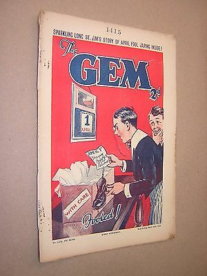 THE GEM. MAR 30th 1935. SCHOOLBOY'S PAPER. COMIC. TOM MERRY OF ST. JIM'S etc.