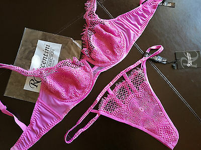 LUXURY  LINCERIE COTTON CLUB completo  reggiseno 4 cup C D85F95USA38XL string 3