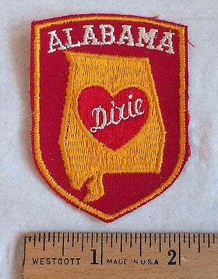 Vintage ALABAMA Dixie Heart Souvenir State Patch Badge