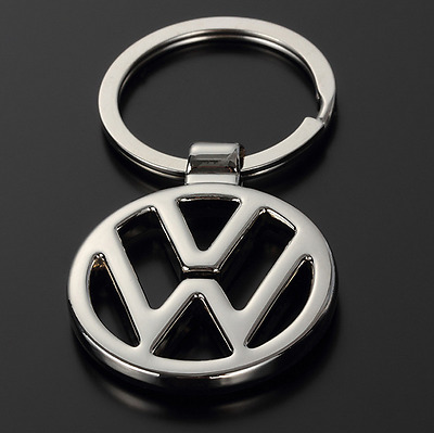 Auto 3D Hollow Out Car Logo Metal Key Chain Pendant Holder Silver Keyring for VW