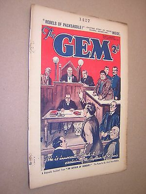 THE GEM. JUNE 22nd 1935. SCHOOLBOY'S PAPER. COMIC. TOM MERRY OF ST. JIM'S etc.