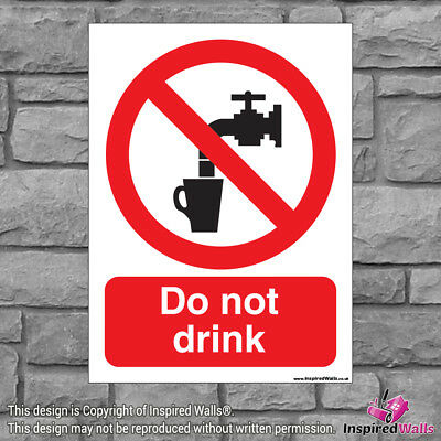 Do Not Drink - Health & Safety Warning Prohibition Sign Sticker