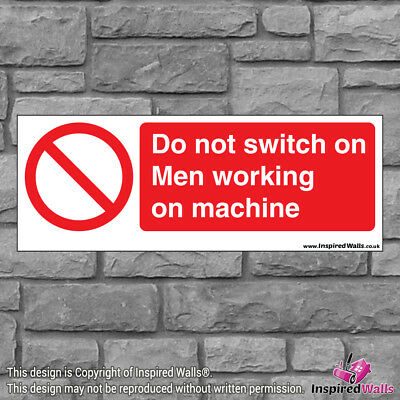 Do Not Switch On - Health & Safety Warning Prohibition Sign Sticker