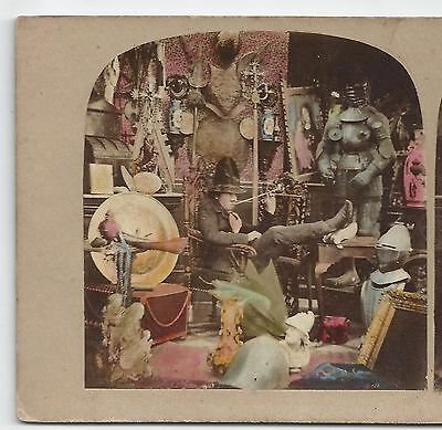 Stereo Stereoview Genre Old Curiosity Shop Still Life Charles Dickens ca. 1860