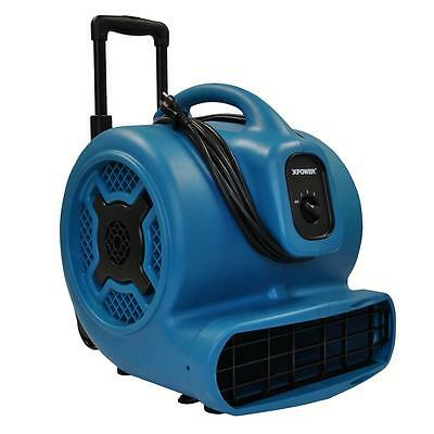 XPower P-830H 1 HP Air Mover with Telescopic Handle and Wheels Blue