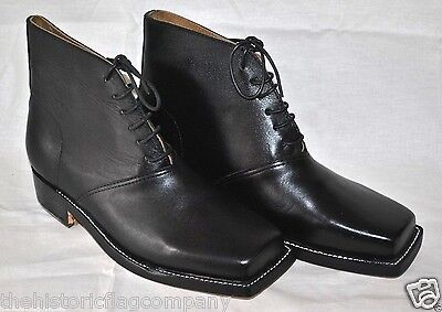 Jeff Davis Boots/Brogans - Size 12 - In Stock! - Black Leather
