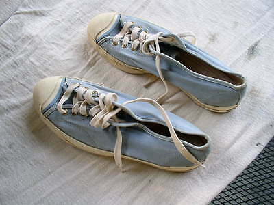 Vintage 1970s ish Womans US Pro Keds Canvas Shoes Ladies 9 Made In USA