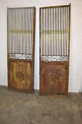 Pair Of Antique Decorative Wrought Iron Entry Garden Gates
