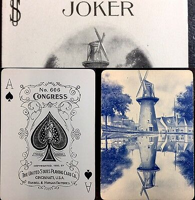 Historically Rare c1900 Rotterdam DELFT Poker Playing Cards Pottery Icon 52+J