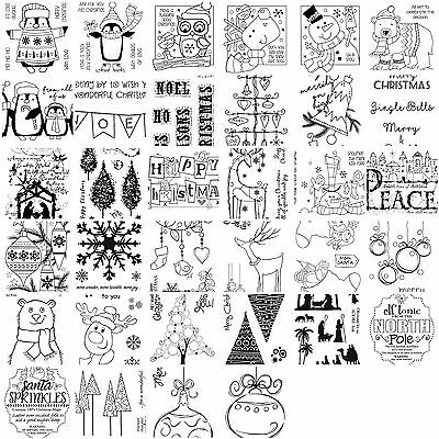 Woodware Clear Singles Stamps - Christmas 2017
