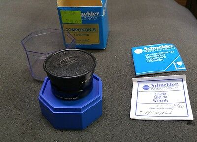 RARE Schneider Kreuznach 4 N0S 80mm Componon-S Enlarger Lens F4/80 With Box ++