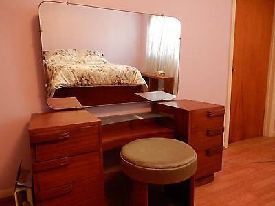 Art Deco Bed and Vanity with Mirror