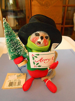 Annalee 90's Carroller Mouse With Hat and Treee #7754 (#2)