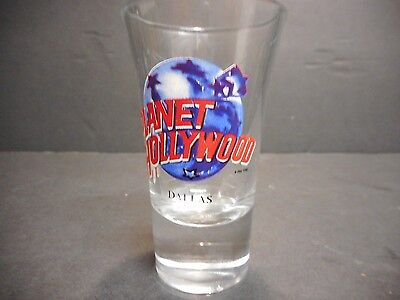 Planet Hollywood Souvenir Shot Glass Dallas Location
