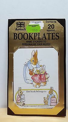 1984 Vintage Sealed BEATRIX POTTER PETER RABBIT BOOKPLATES - Made in UK Antioch