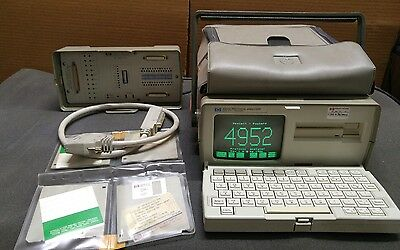 Hewlett Packard Protocol Analyzer 4952A 18179A HP Software and Cables