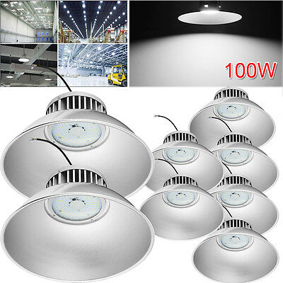 8x 100W LED High Bay Light Commercial Warehouse Industrial Factory Shed Lighting