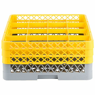 NEW Commercial Dishwasher Dish Washer Machine 16 Cup Glass Tray Rack 3 Extenders