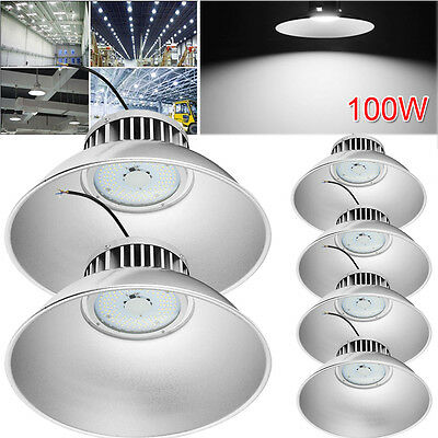 6x 100W LED High Bay Light Commercial Warehouse Industrial Factory Shed Lighting