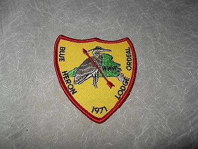 Boy Scout Blue Heron Lodge Ordeal 1971 Patch - New