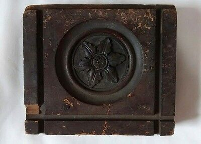 Antique Eastlake Victorian Wood Rosette Architectural Salvage Display Piece