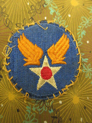WWII Used & Worn ORIGINAL WW2 Vtg US ARMY AIR FORCE SHOULDER PATCH USAAF